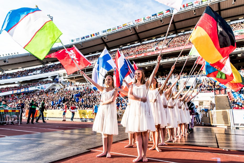 Gothia Cup - flags of countries - Road to Sport