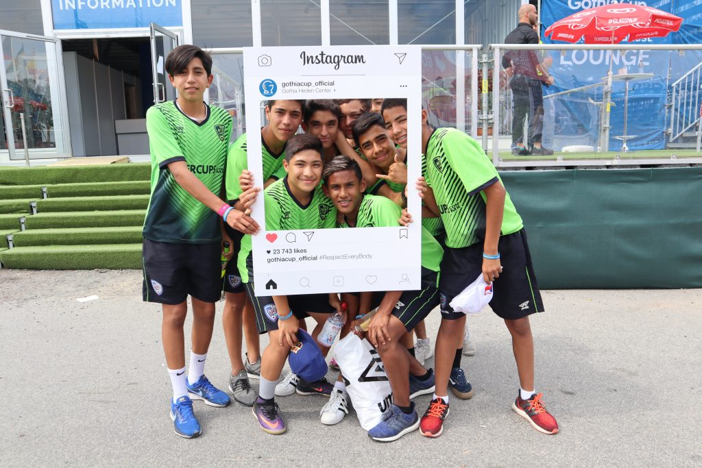 Gothia Cup - players with the Instagram frame - Road to Sport