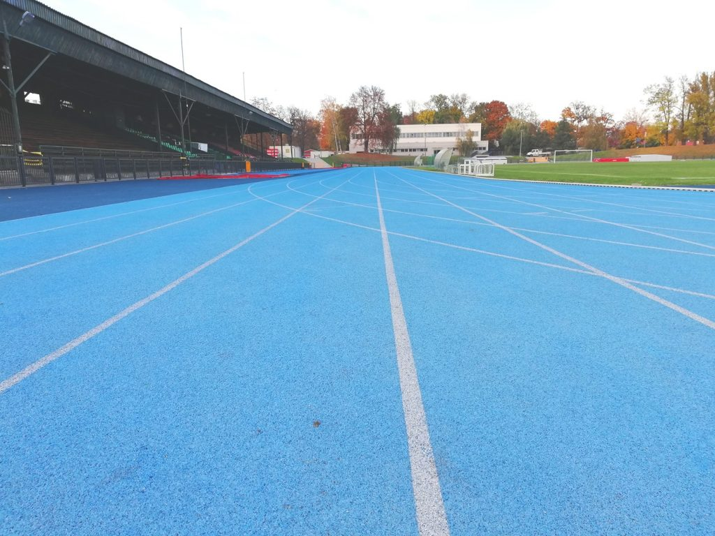 Sports camps Cracow - a part of athletics track