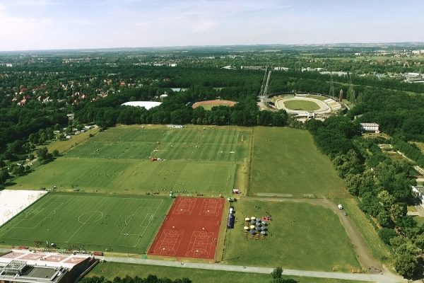 Sports camps in Wroclaw - Academic Sports Center birdseye