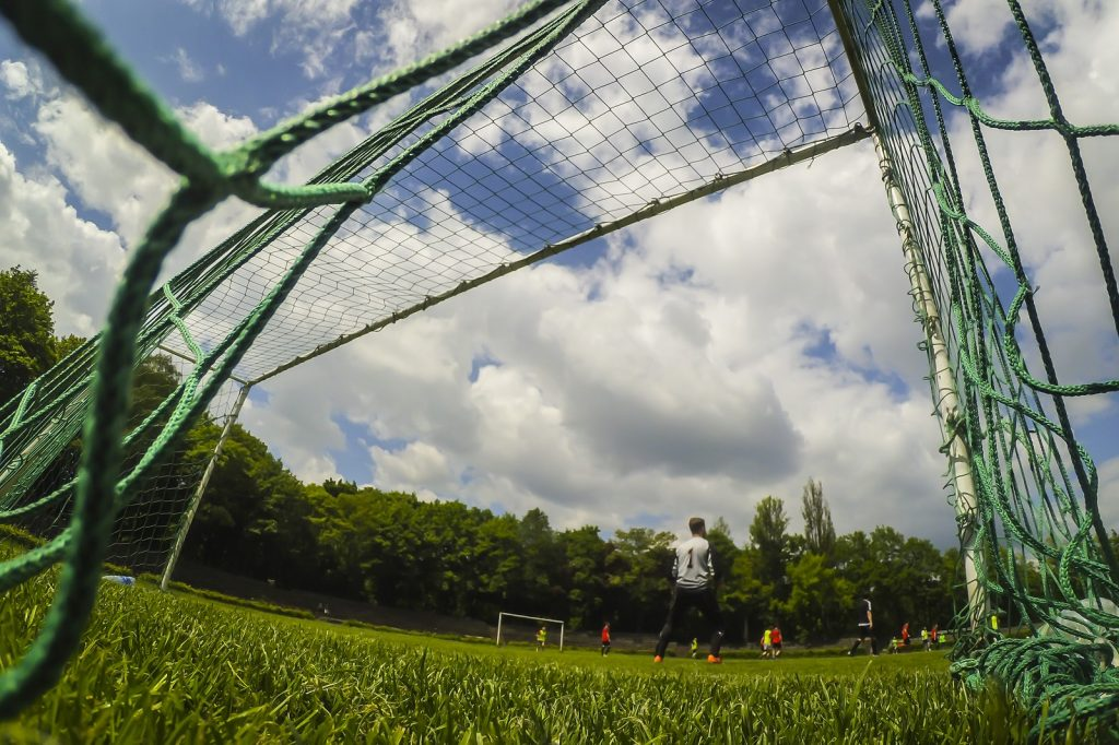 Football camps Cracow - view from the goal