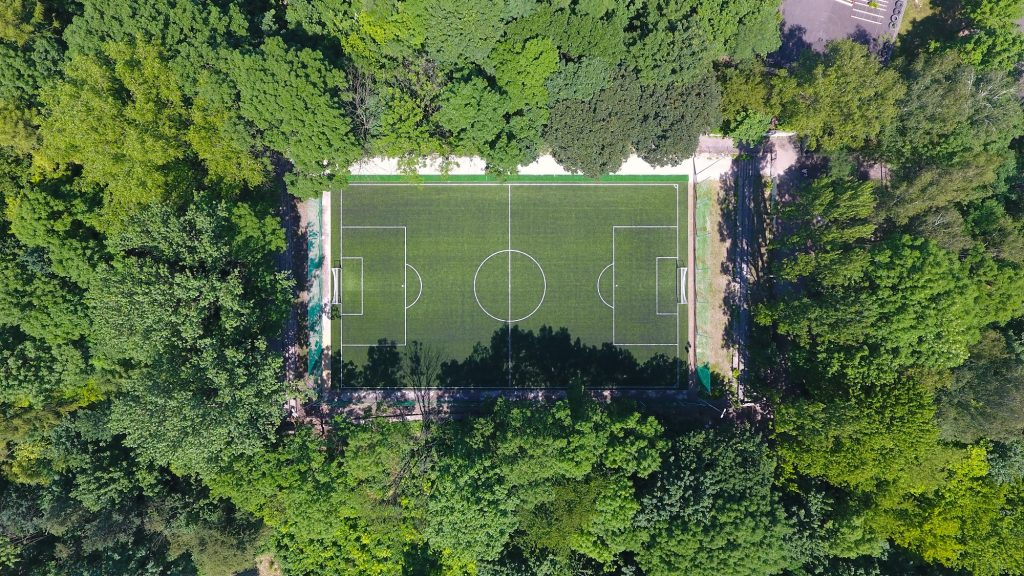 Football camps Cracow - the ground between trees