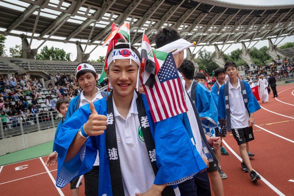 Paris World Games - a boy from Japan