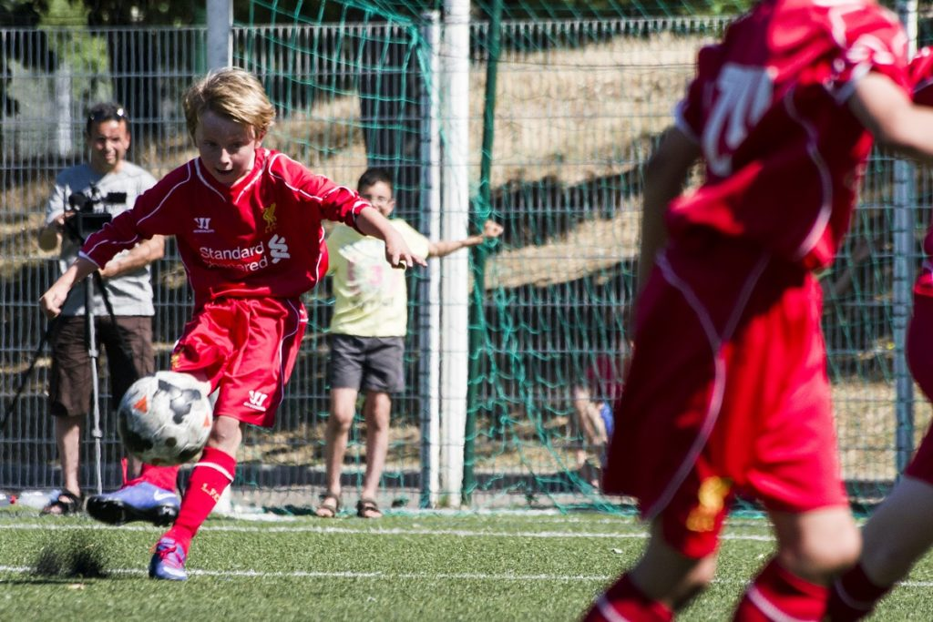 Paris World Games - young players on the football ground